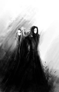 Charon and Tiresias by Y-mir