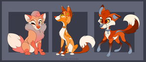 Unique Fox Adoptables -Sold Out- by Kitchiki