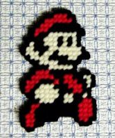 Super Mario Bros 3 yarn sprite by Raggletag