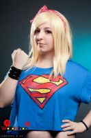 Hipster Supergirl by redfireburns