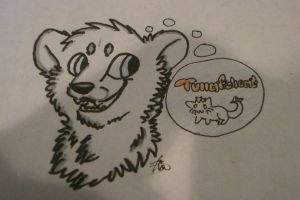 TRANDITIONAL ART (bear pic) by AutumLeavesofFall