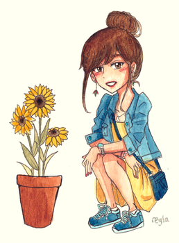 Sunflowers by retropiink
