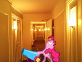 Pinkies going break the door down! by TheBlackmanBrony