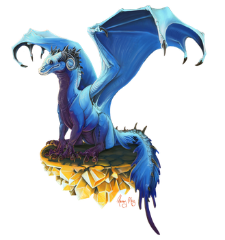 Perched Dragon by kaseykmay