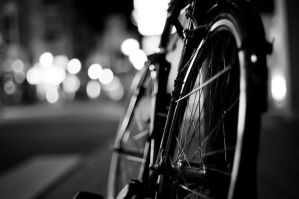 Bicycle at night by rayzar