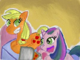 Sweet Slumbers with Applejack by Quacksquared