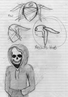 Sketch Dump ~ Skeleton Boy and Meow's Hat by EyonSplicer