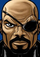 Nick Fury Portrait Series by Thuddleston