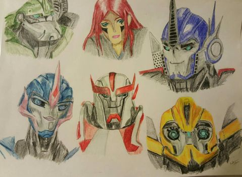Cat's Autobot Family and Team by CatrionaLeo
