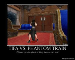 Demotivational: Tifa vs. Phantom Train by Mrfipp