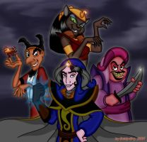 Aladdin Villains by Goldy-Gry by mozenrath