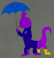 Chibi Randy and Blue Umbrella by PuccaFanGirl