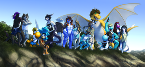 Commission: All together by JA-punkster