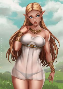Princess Zelda by dandonfuga