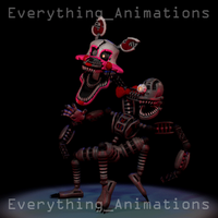 Nightmare Mangle Walk-cycle (Animation) by EverythingAnimations