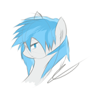 Blue Gale head doddle by jojafnot