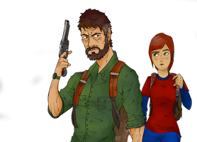 joel and ellie by knight-alui