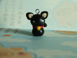 small bell black cat by Libellulina