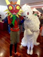 Skull Kid And Nine-Tails At Eirtakon 2014 by Werewolf316