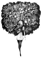 Flower Brain by SandraInk
