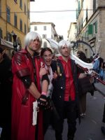 Me, Dante and Nero at Lucca 08 by Feiuccia