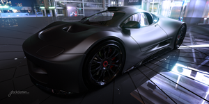 Concept car matte black by jackdarton