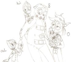 The whole family... by DragonCatgirl