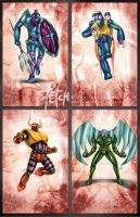 Mazinger Z_cards SERIES D by FranciscoETCHART