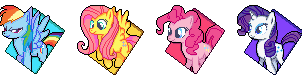Got Bored - My Little Pony Icons by Kevfin