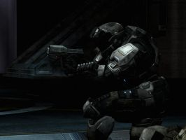 Halo Reach: caution when alone by purpledragon104