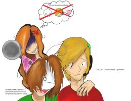 Drunk Cry, angry Marzia and Pewds is worried by flamenphoenix1915