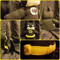 Batman Plushie-ized by DucklingDoodles
