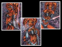 DARTH TALON PERSONAL SKETCH CARDS 2012 by AHochrein2010