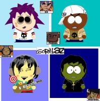 gorillaz-south park version by NOODLE101084