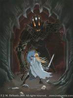 Fingolfin and Morgoth by jmdesantis
