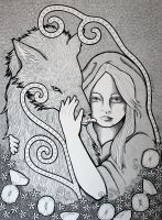 Red Riding Hood - BW by Ravenari