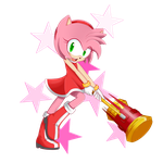 Hammer Time!! //Amy Rose// by GoichiKitty