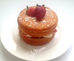Classic Victoria Sponge Cake by TaylaMareee