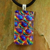 Rainbow Bubble Fused Glass by FusedElegance