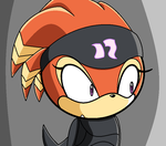 shade staring sonic x XD by deathsbell