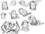 Lord Bloo Hater and Commander Ed Peepers Sketches by Celebi9