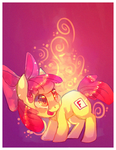 apple bloom meets cutie mark by cappydarn