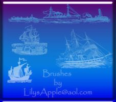14 Vintage Nautical brushes by LilysApple