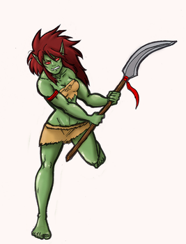 Orc Warrior by Baby-Crow