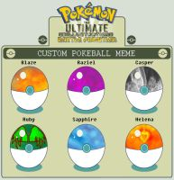 Custom Pokeballs by HigeKunI
