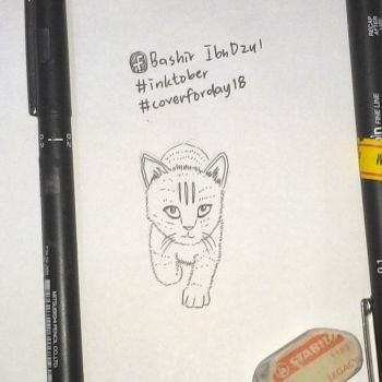 Inktober Day 18 : Imitating the tiger by kahfi8