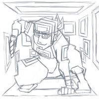 ACTION SKETCH WIP by Hedrew