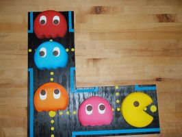 Pac Man Video Game Cake by PokemonMasta