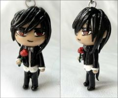 Butler Chibi romantic vampire polymer clay by SomethinSweet