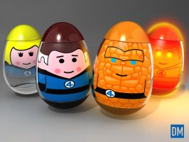 Weebles - Fantastic Four by DanielMead